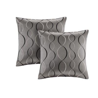 Nikhel Ogee Taffeta Throw Pillow Color: Charcoal