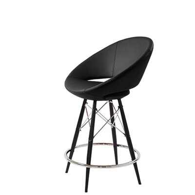 Hedgepeth Dowel 24 Bar Stool Leg Color: Black