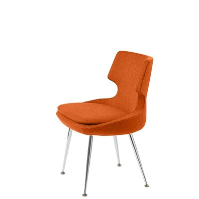 Hedges Upholstered Dining Chair Upholstery Color: Orange
