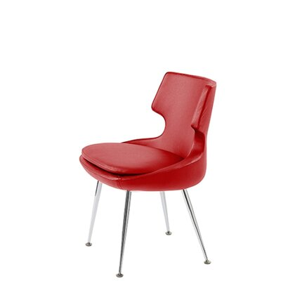 Hedges Upholstered Dining Chair Upholstery Color: Red Leatherette