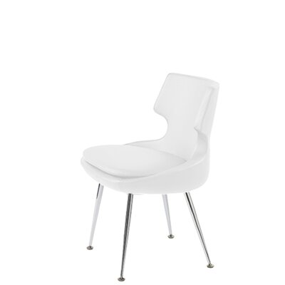 Hedges Upholstered Dining Chair Upholstery Color: White Leatherette