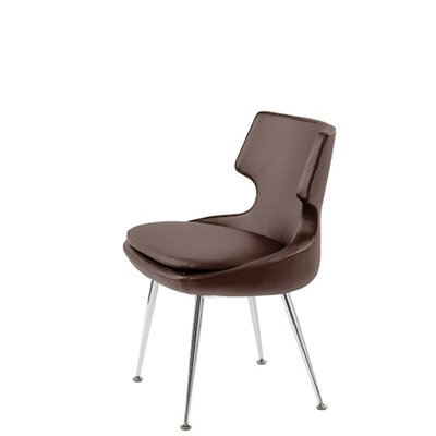 Hedges Upholstered Dining Chair Upholstery Color: Brown Leatherette