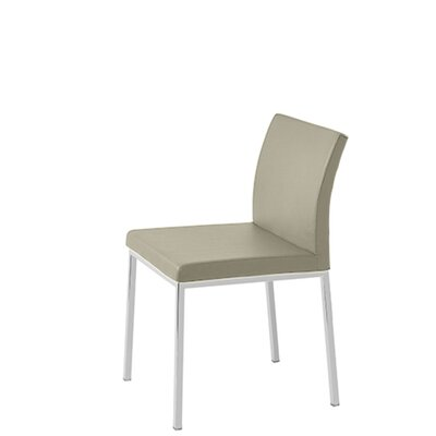 Heffington Upholstered Dining Chair Upholstery Color: Bone Leatherette