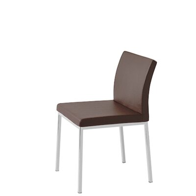 Heffington Upholstered Dining Chair Upholstery Color: Brown Leatherette