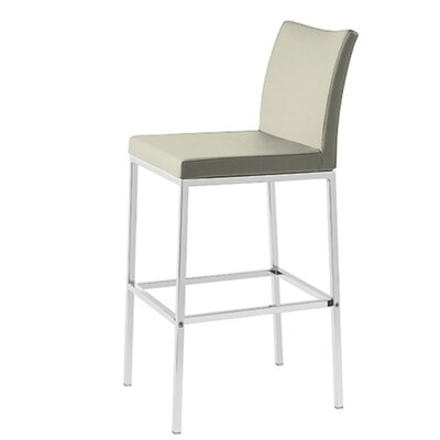 Heffington 24 Bar Stool Seat Color: Bone Leatherette
