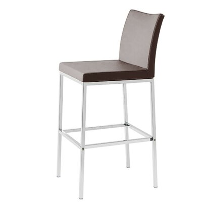 Heffington 24 Bar Stool Seat Color: Brown Leatherette