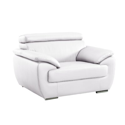 Haworth Luxury Upholstered Living Room Club Chair Upholstery: White