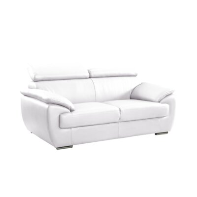 Haworth Luxury Upholstered Living Room Loveseat Upholstery: White