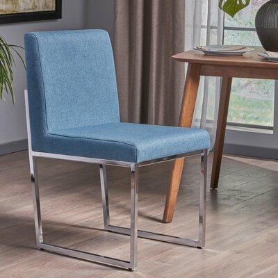 Hanneman Modern Upholstered Dining Chair Upholstery Color: Blue