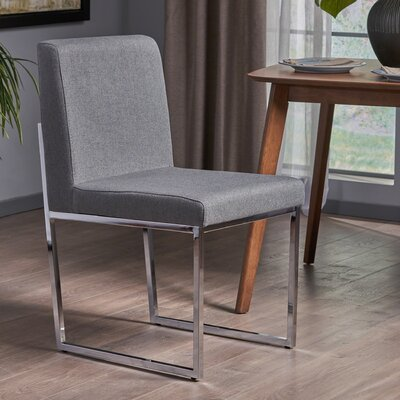 Hanneman Modern Upholstered Dining Chair Upholstery Color: Charcoal