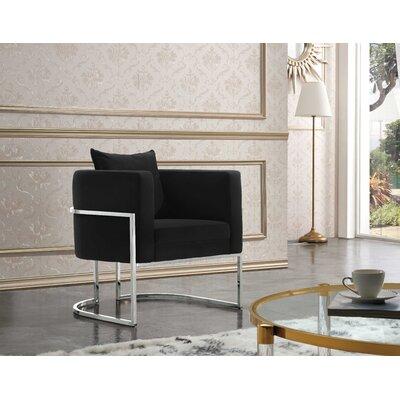 Saba Armchair Upholstery: Black