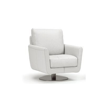 Maureen Swivel Chair Upholstery: White