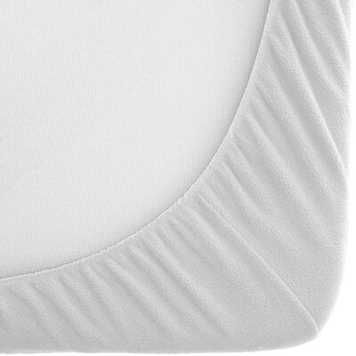 Fleece Bottom 2 Piece Fitted Sheet Set Size: King, Color: White