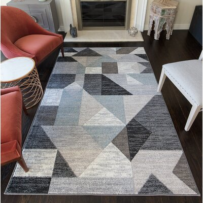 Haygood Gray/Black Area Rug Rug Size: 8 x 10
