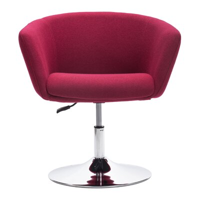 Rogin Barrel Chair Upholstery: Red