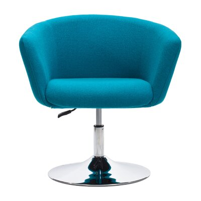 Rogin Barrel Chair Upholstery: Blue