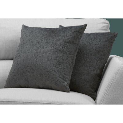 Aymond Throw Pillow Color: Dark Gray