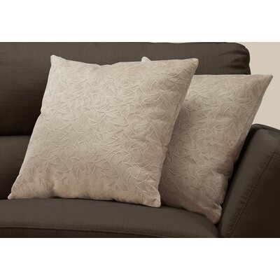 Aymond Throw Pillow Color: Taupe