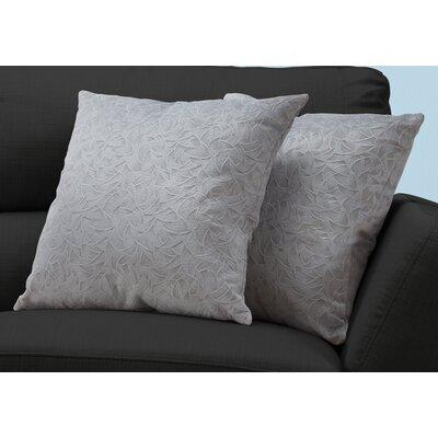 Aymond Throw Pillow Color: Light Gray