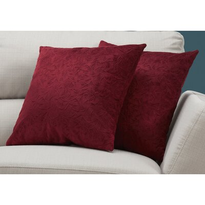 Aymond Throw Pillow Color: Red