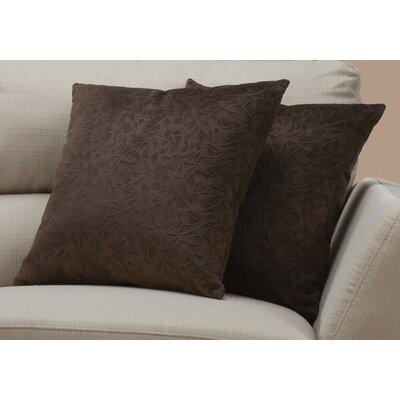 Aymond Throw Pillow Color: Dark Brown