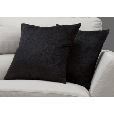 Aymond Throw Pillow Color: Black