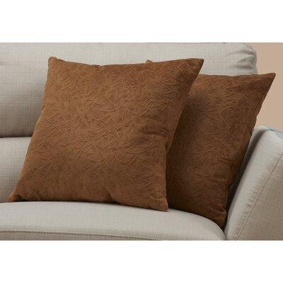 Aymond Throw Pillow Color: Light Brown