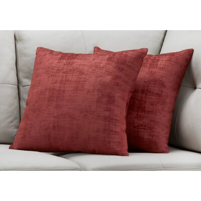 Aylor Throw Pillow Color: Red