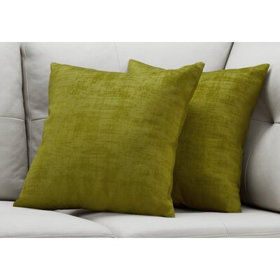 Aylor Throw Pillow Color: Green