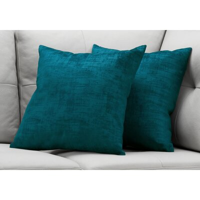 Aylor Throw Pillow Color: Turquoise