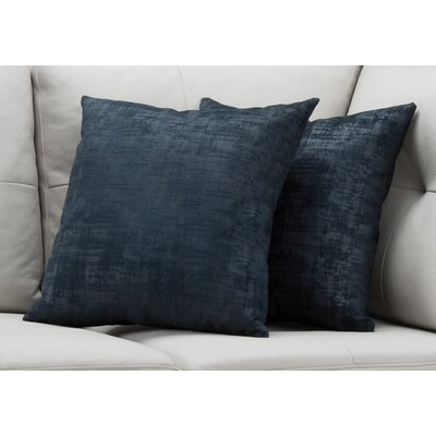 Aylor Throw Pillow Color: Blue