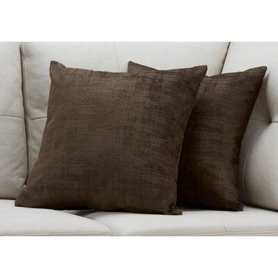 Aylor Throw Pillow Color: Brown