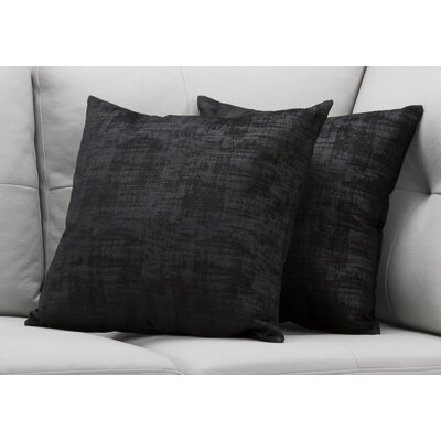 Aylor Throw Pillow Color: Black