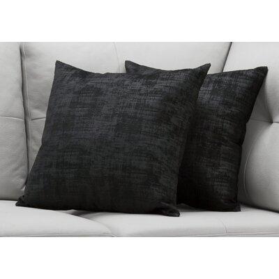 Aylor Throw Pillow Color: Black
