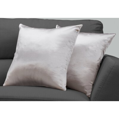 Mornington Throw Pillow Color: Silver