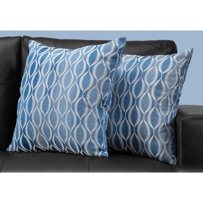 Ayward Throw Pillow Color: Blue