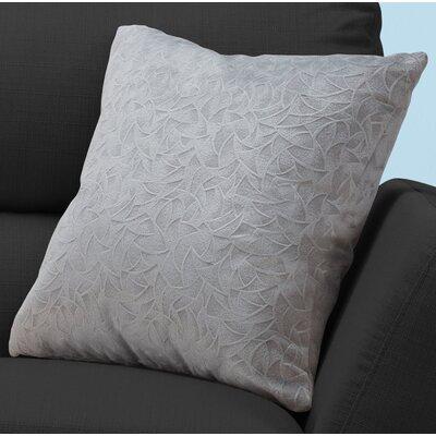 Aymond Square Throw Pillow Color: Light Gray