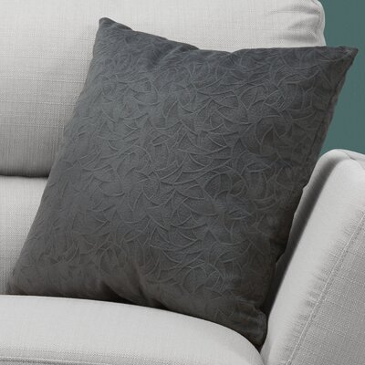 Aymond Square Throw Pillow Color: Dark Gray