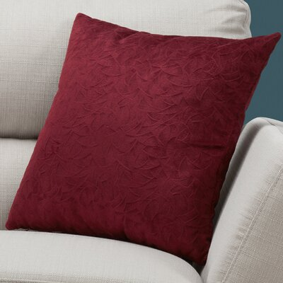Aymond Square Throw Pillow Color: Dark Red