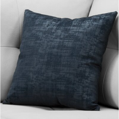 Aylor Square Throw Pillow Color: Dark Blue