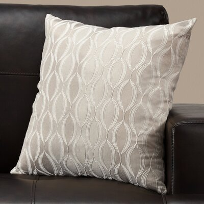 Ayward Square Throw Pillow Color: Taupe