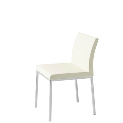 Heffington Upholstered Dining Chair Upholstery Color: White Leatherette