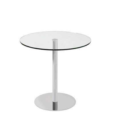 Heffernan Glass Steel Dining Table Size: 30 H x 40 W x 40 D