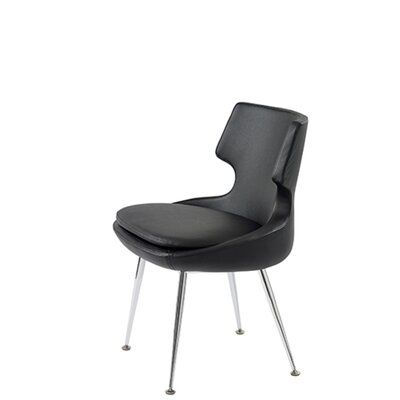 Hedges Upholstered Dining Chair Upholstery Color: Black Leatherette