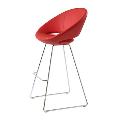 Hedgepeth 24 Bar Stool Seat Color: Red Leatherette