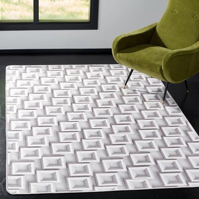 Cahoon Abstract Power Loomed Ivory Area Rug Rug Size: Rectangle 4 x 6
