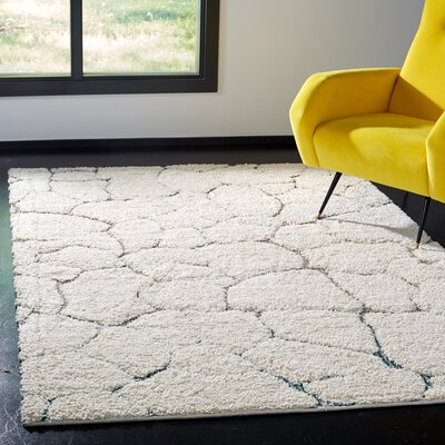 Grunwald Shag Cream Area Rug Rug Size: Rectangle 3 x 5