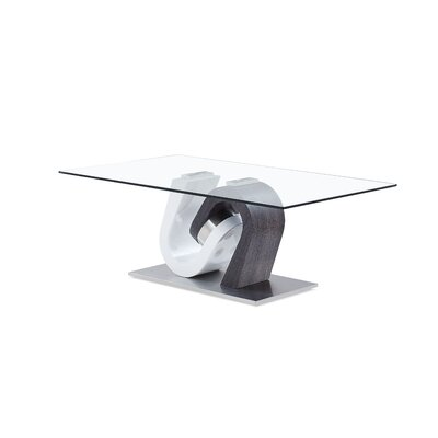 Celentano Coffee Table Table Base Color: Gray/White