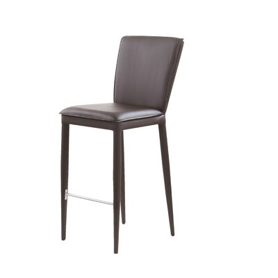 Catlin Bar Stool Upholstery: Brown