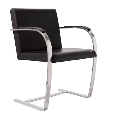 Brumback Upholstered Dining Chair Color: Black